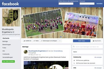 Musikkapelle Engetried goes Facebook